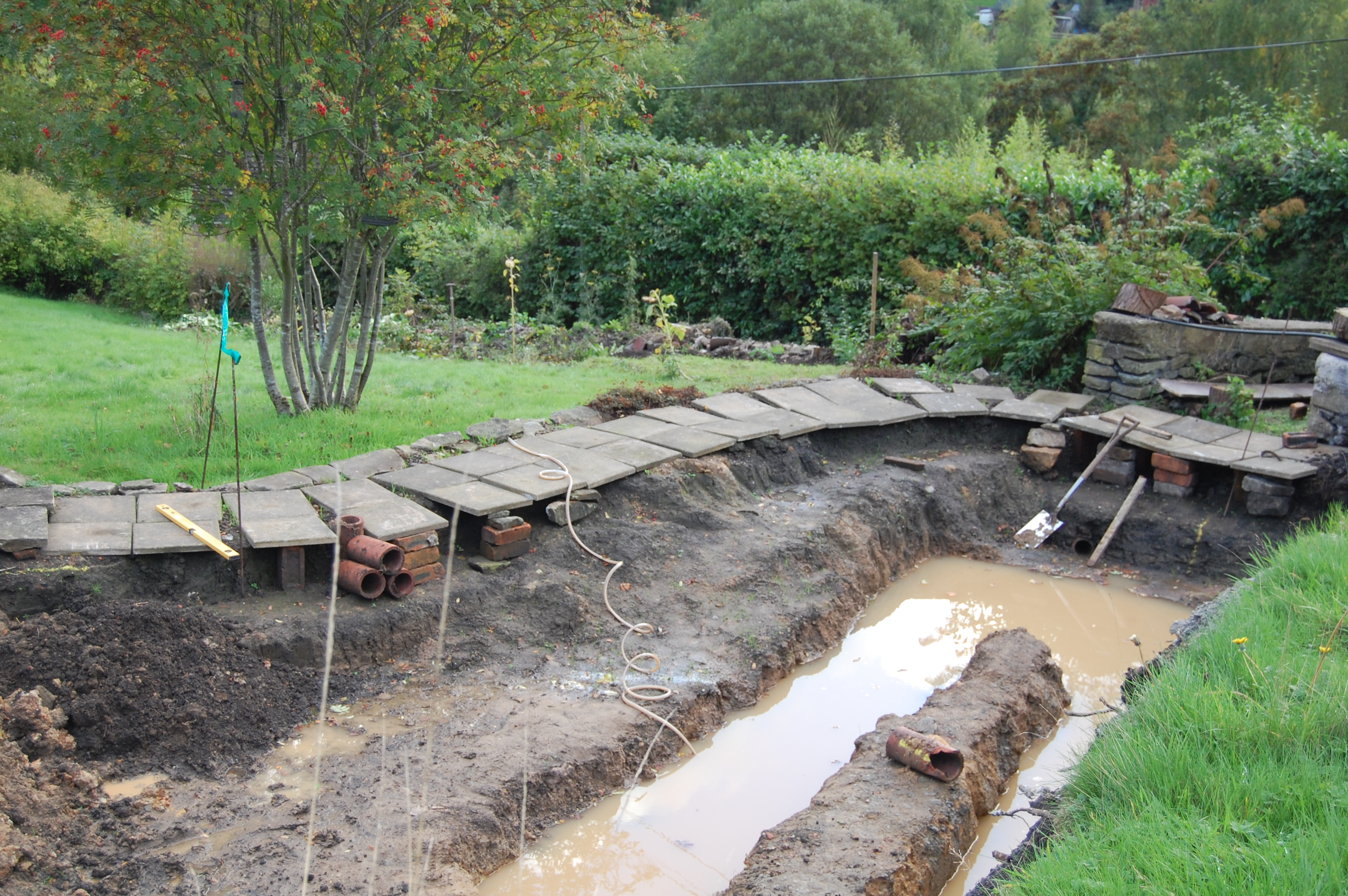 Tieing Liner Into Stone Wall Page 2 Pond Design And